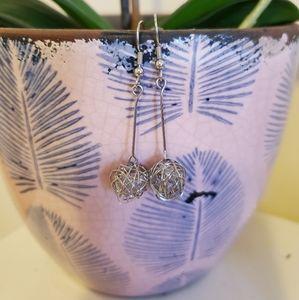 Jewelry - Sterling Silver Pendant Globe Earrings